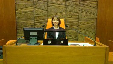 議員インターンシップ大学生の久松倫子さん